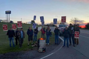 UAW Local 2069 Volvo strikers evening