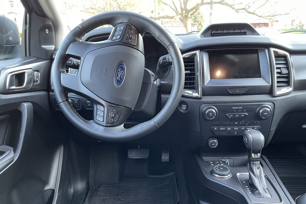 2021 Ford Ranger Tremor cockpit