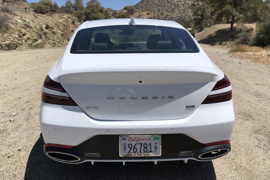 2022 Genesis G70 trunk