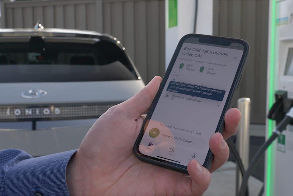 2022 Hyundai Ioniq 5 Electrify America app