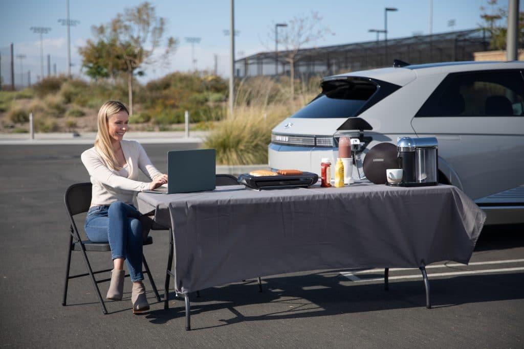2022 Hyundai Ioniq tailgating