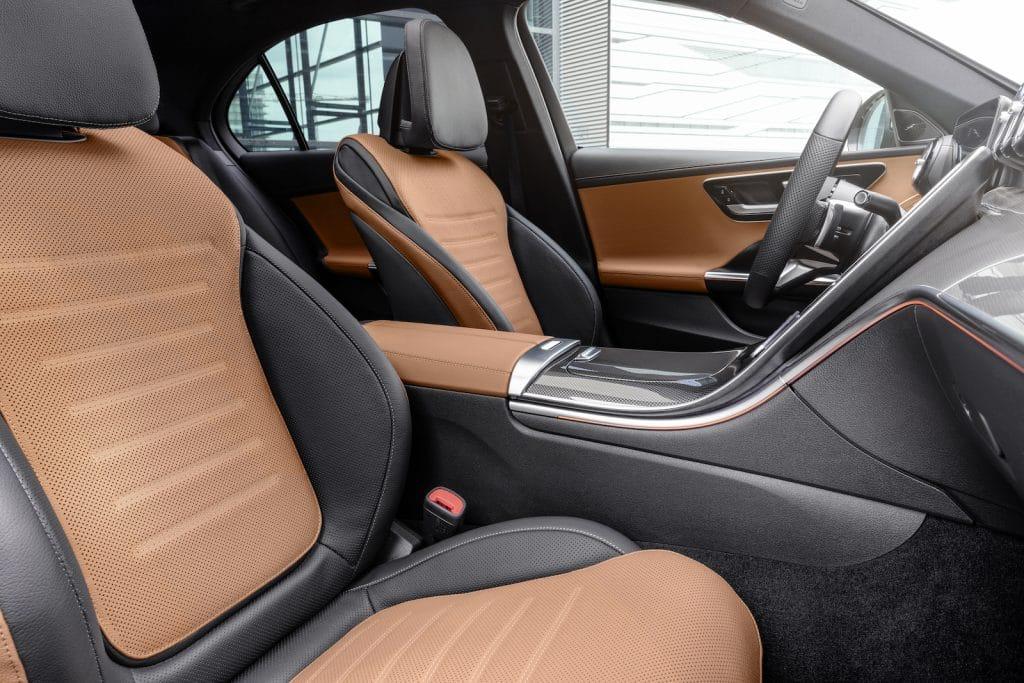 2022 Mercedes C-Class two-tone seats