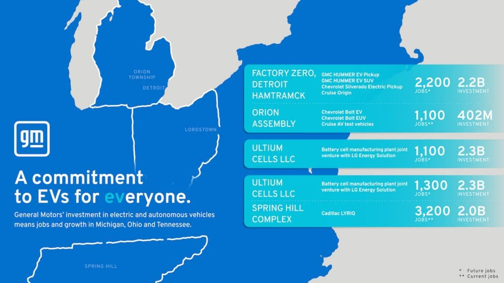 GM EV jobs graphic