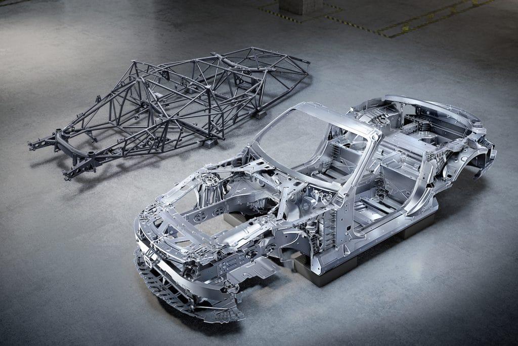 Mercedes-AMG SL bodyshells and frame
