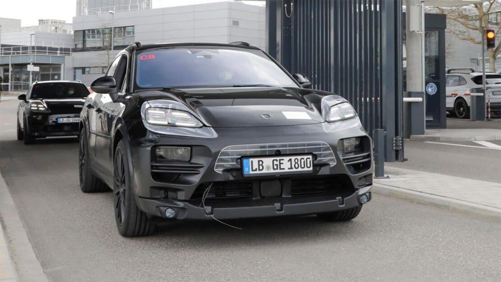 Porsche Macan EV - leaving plant