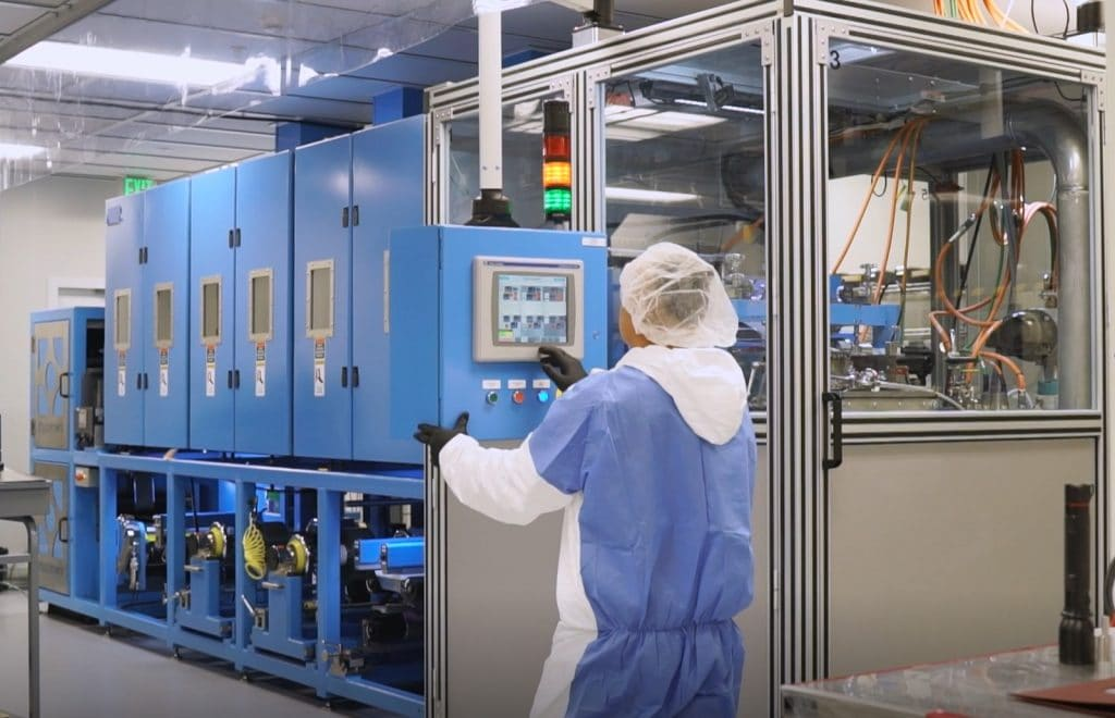 Solid Power battery cell production