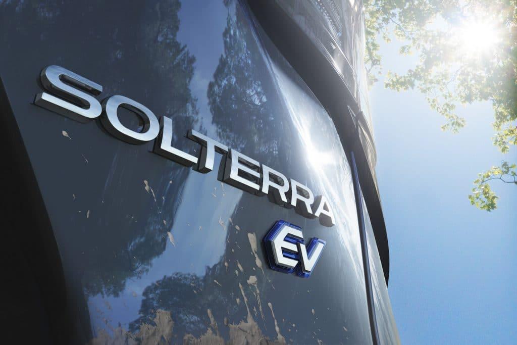 Subaru Solterra EV badge