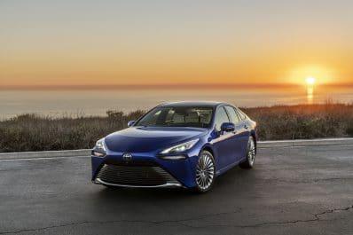 2021 Toyota Mirai Ltd Hydro Blue front