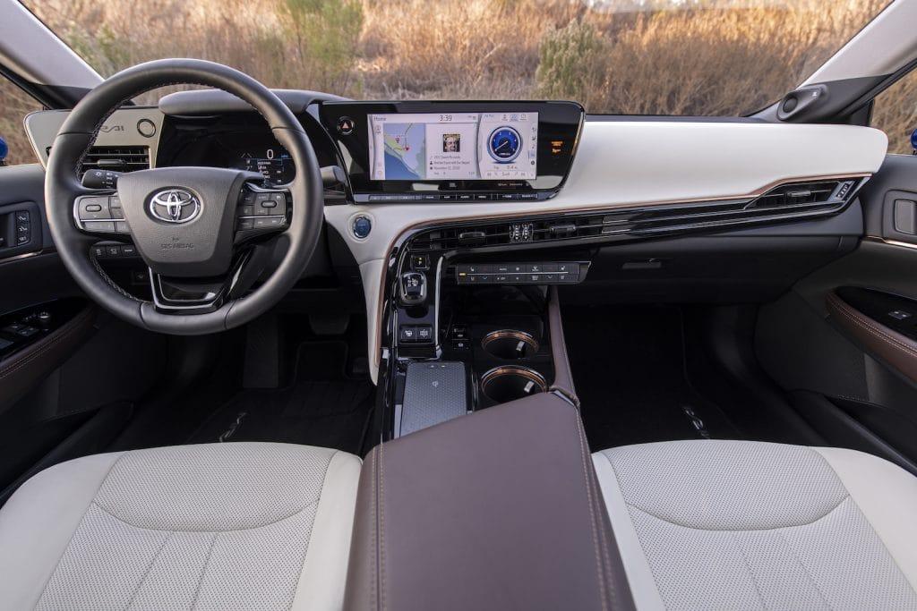 2021 Toyota Mirai Ltd Hydro Blue interior
