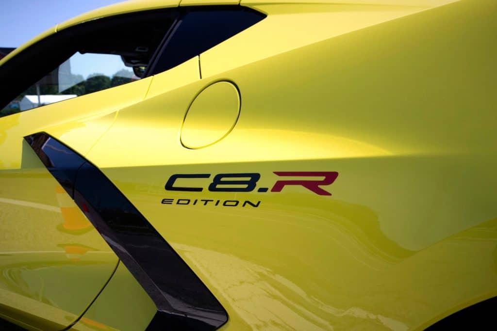 2022 Corvette Stingray C8.R edition logo