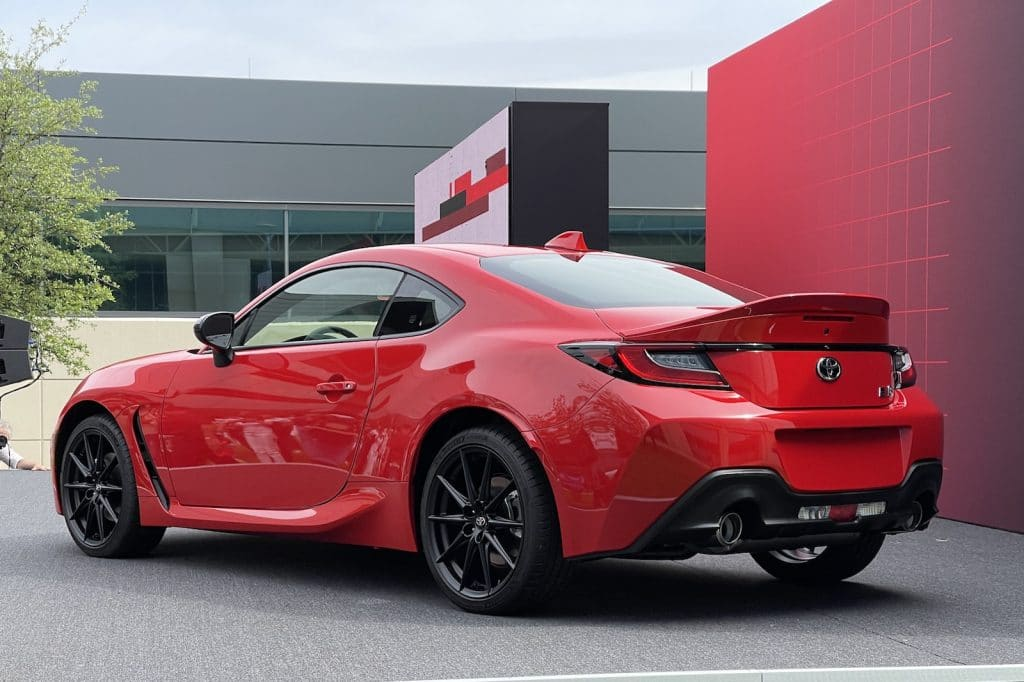 2022 Toyota 86 rear on stand