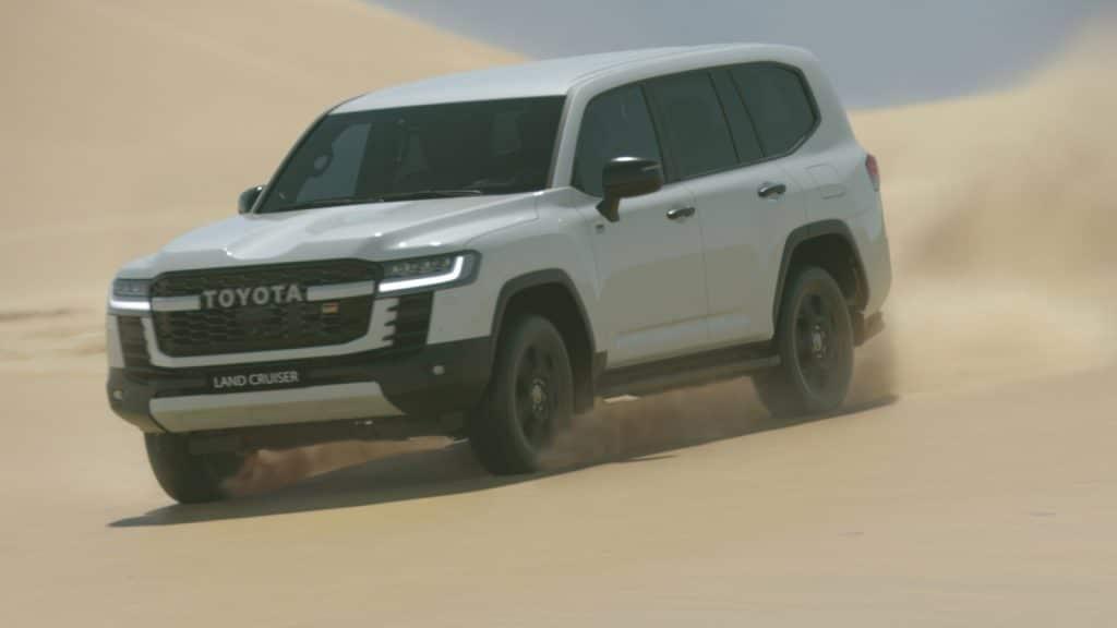 2022 Toyota Land Cruiser on a dune