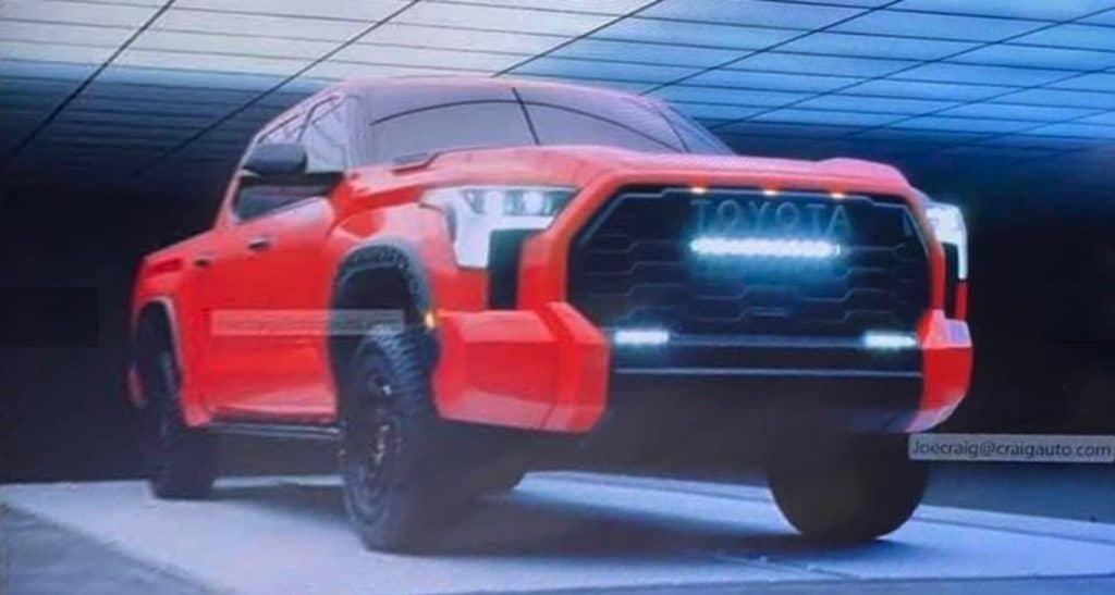 2022 Toyota Tundra leaked pic