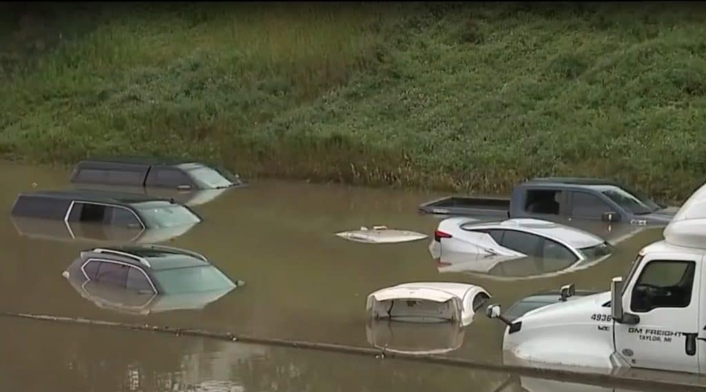 Flooded Detroit roads two