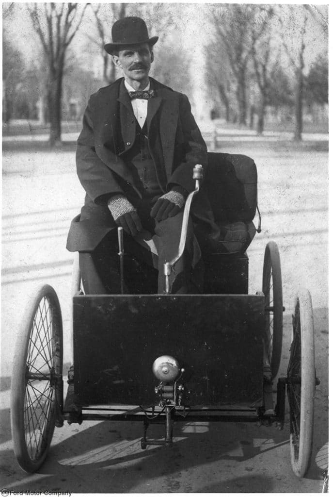 Henry Ford in the Quadricycle