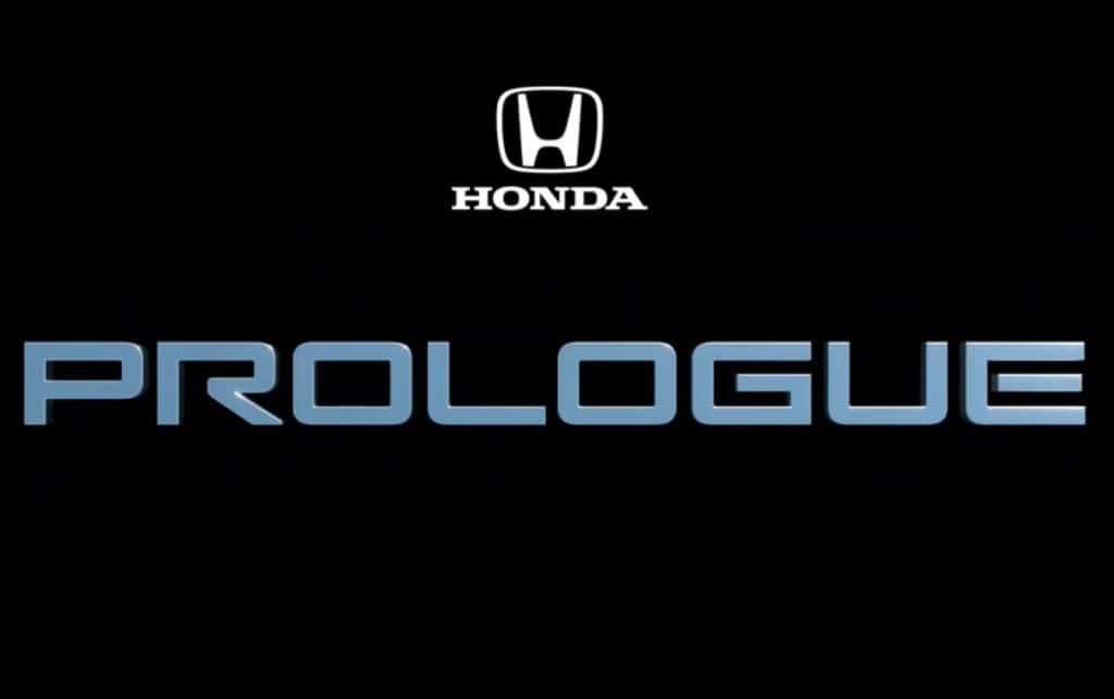 Honda Prologue teaser logo