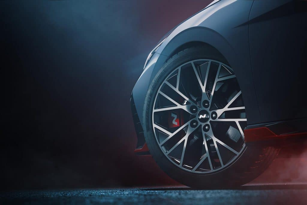 Hyundai Elantra N - teaser front quarter