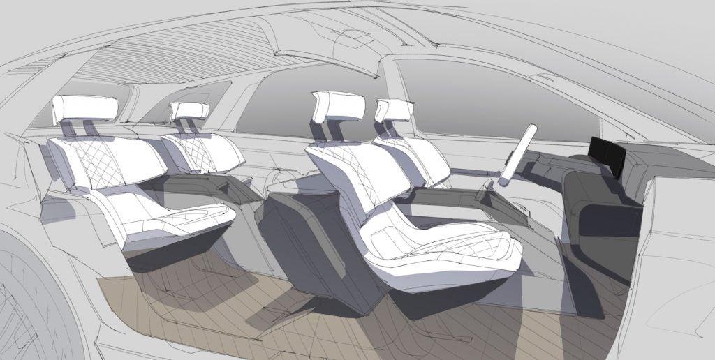Lincoln EV Interior Cutaway sketch