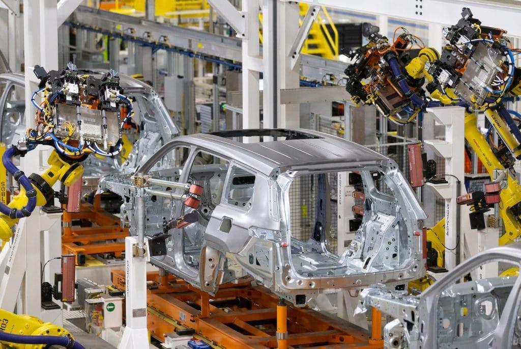 Detroit Assembly Mack plant robot line measuring