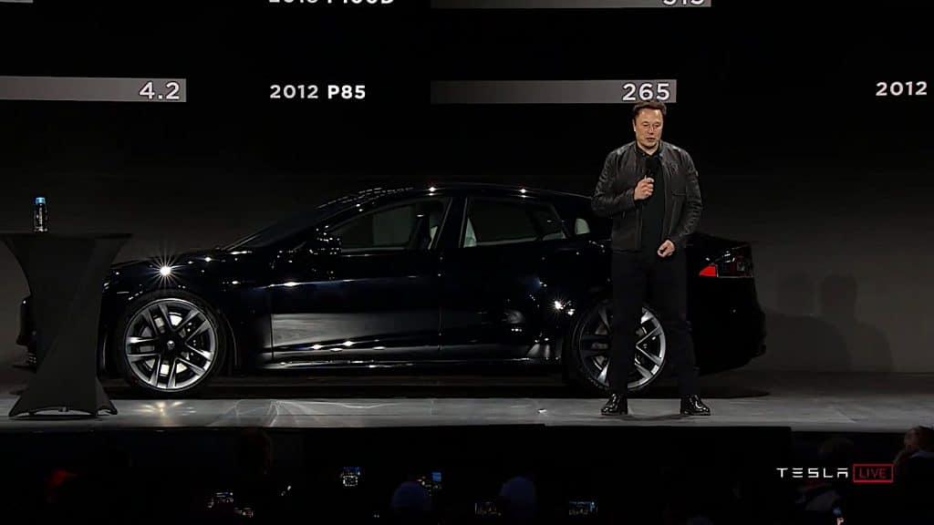 Musk debuts Plaid full car