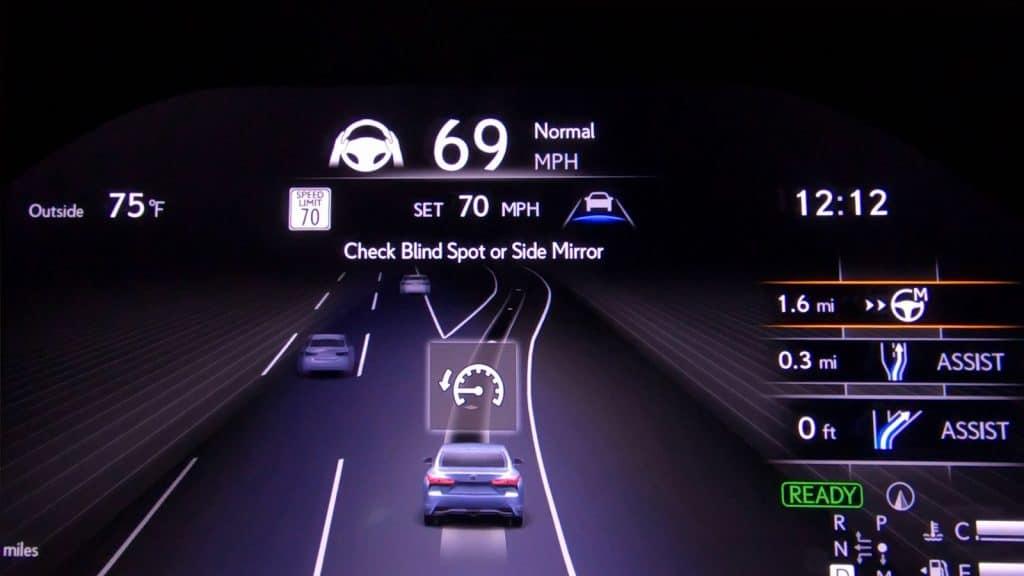 Toyota Teammate lane changing