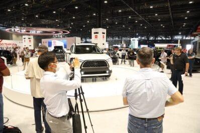 2021 Chicago Auto Show floor