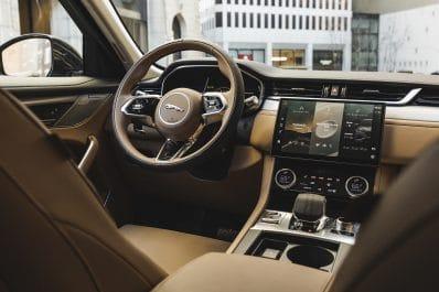 2021 Jaguar F-Pace cockpit