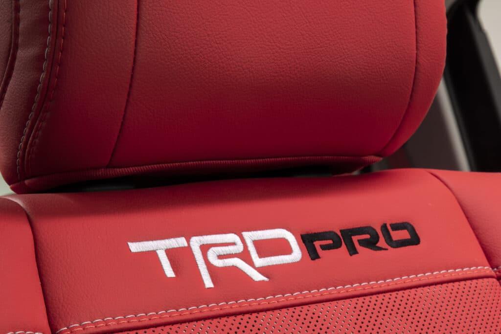 2022 Toyota Tundra TRD Pro seat
