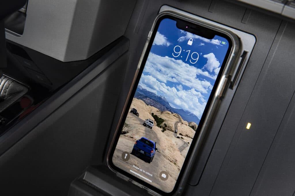 2022 Toyota Tundra wireless charging pad