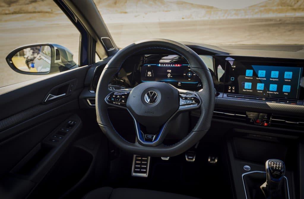 2022 VW Golf R cockpit