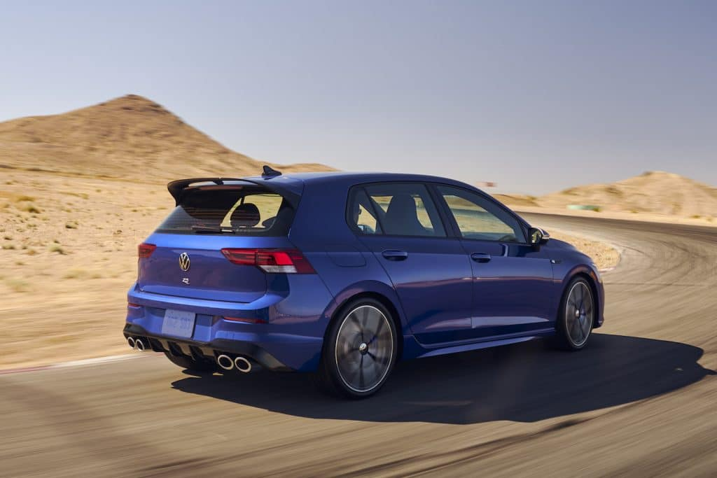 2022 VW Golf R rear driving