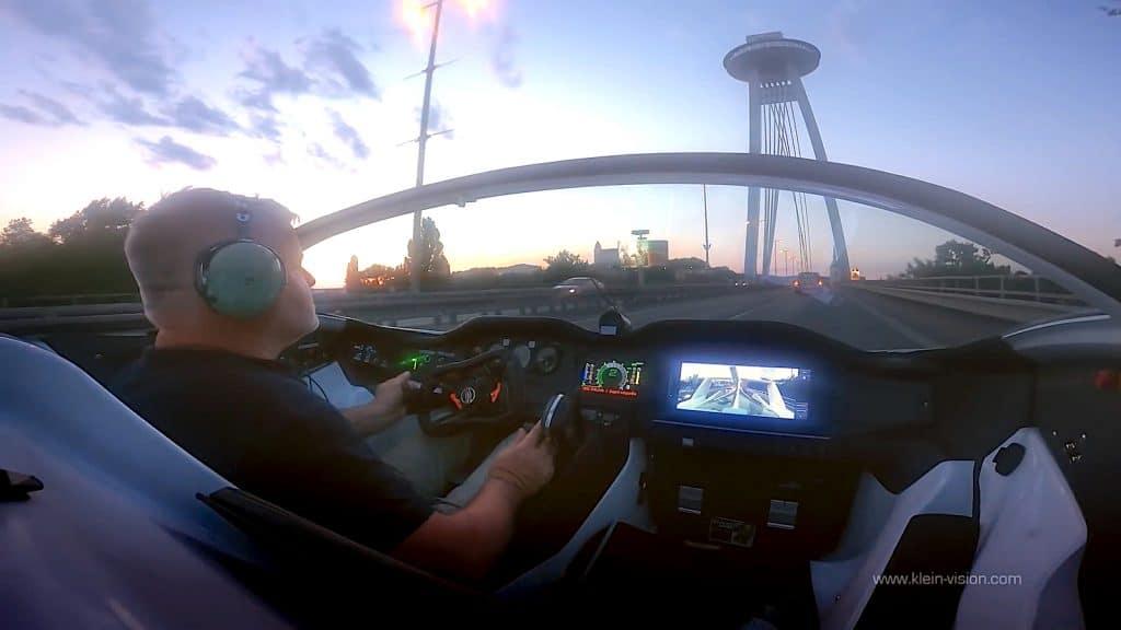 AirCar interior while driving