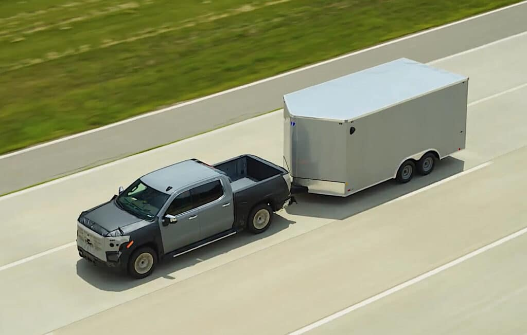 GMC Sierra towing with Super Cruise