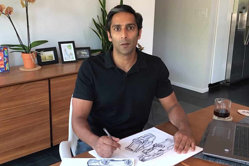Nissan's Hiren Patel drawing one