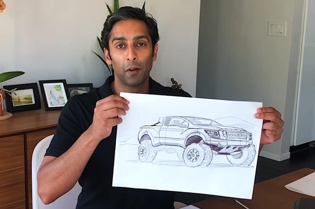 Nissan's Hiren Patel drawing two