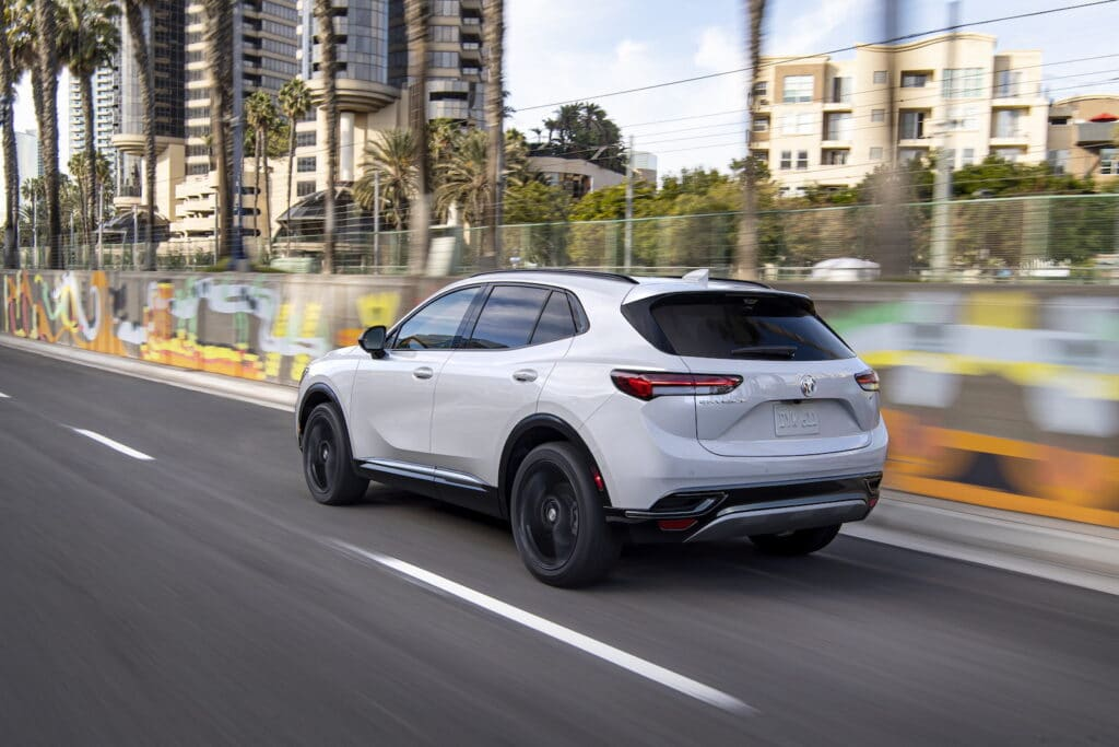 2021 Buick Envision Essence rear driving