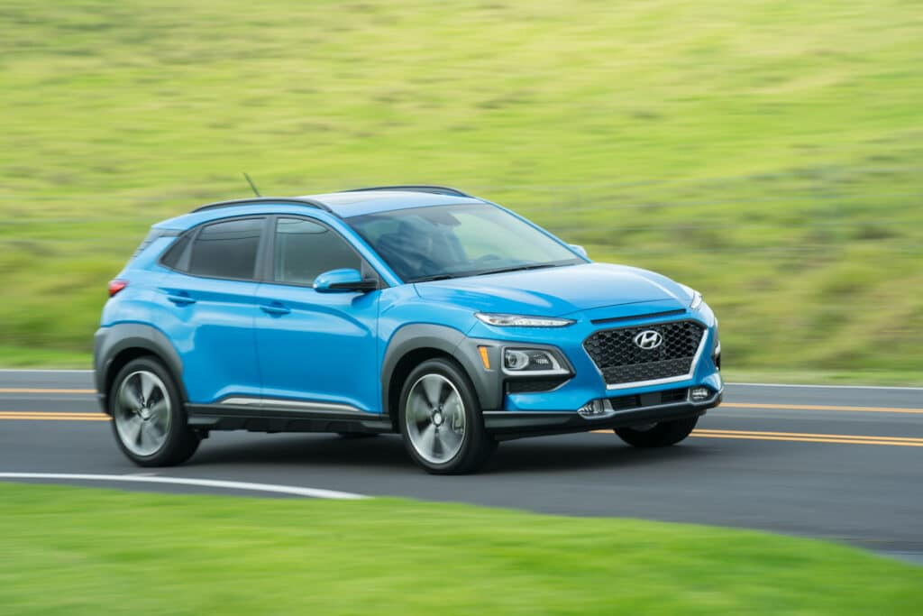 2021 Hyundai Kona driving
