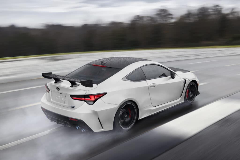 2021 Lexus RC F Fuji Speedway Edition driving rear