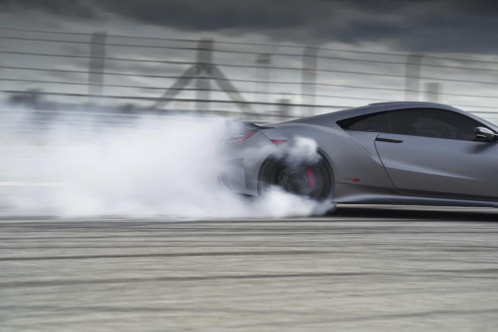 2022 Acura NSX Type S smoking tire teaser