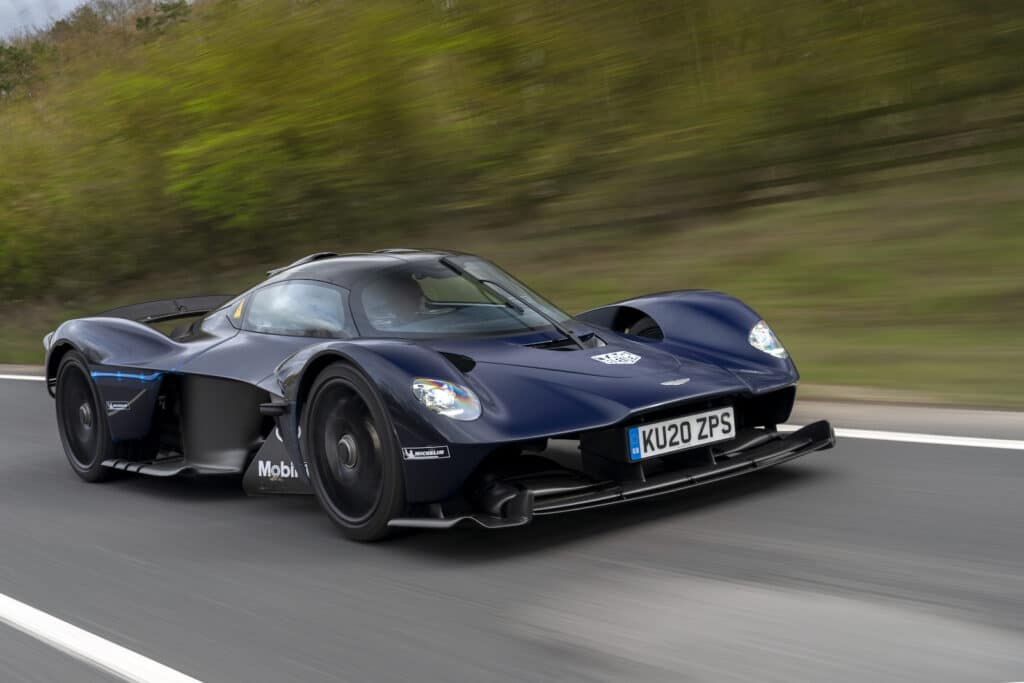 2022 Aston Martin Valkyrie driving