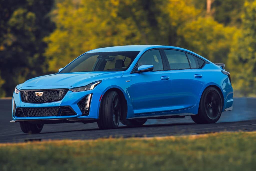 2022 Cadillac CT5-V Blackwing blue front