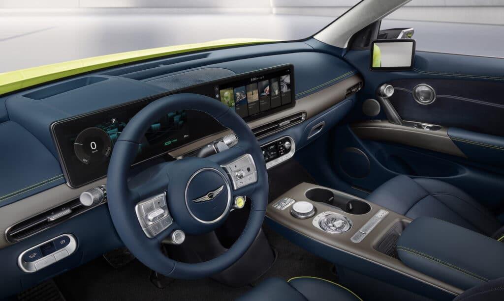 2022 Genesis GV60 debut dashboard