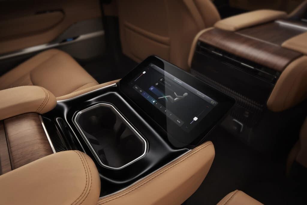 2022 Grand Wagoneer second row touchscreen