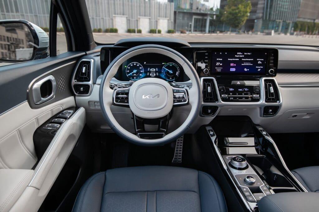 2022 Kia Sorento PHEV cockpit
