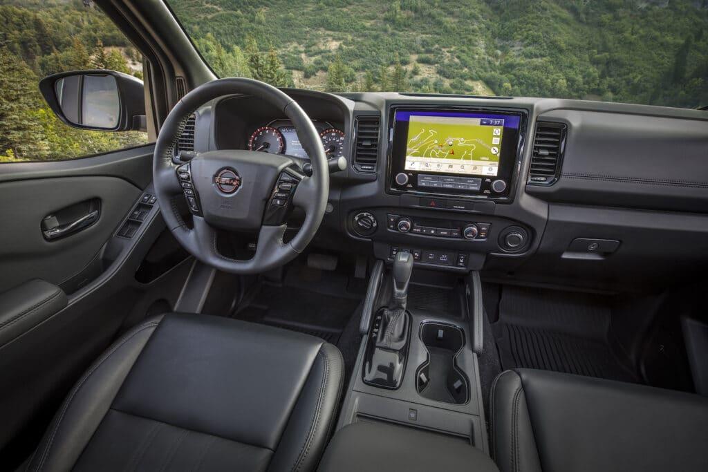 2022 Nissan Frontier brown interior