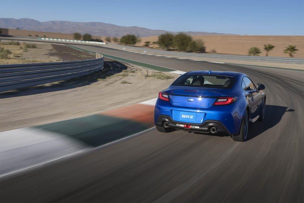2022 Subaru BRZ - rear 3-4 on track