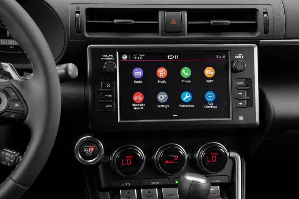 2022 Toyota GR 86 touchscreen