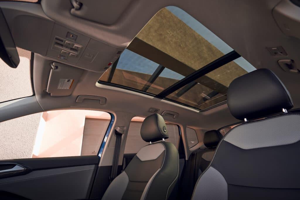 2022 VW Taos SEL cabin blue