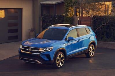 2022 VW Taos SEL front blue