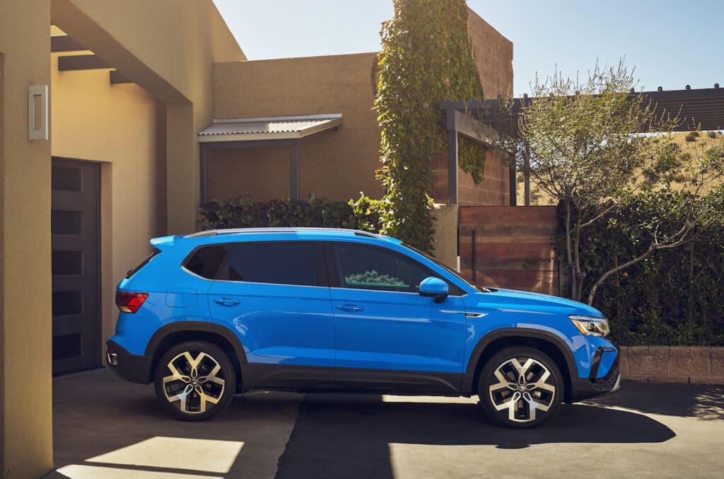 2022 VW Taos SEL side blue